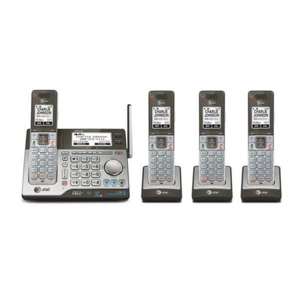 AT&T CLP99483 4-handset Connect to Cell Answering System with Dual Caller ID and Call Waiting