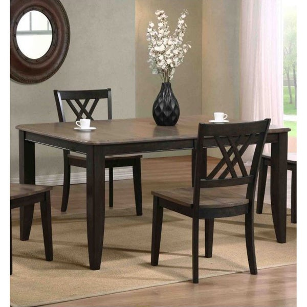 Iconic Furniture Grey Stone/ Black Stone Rectangle Dining Table