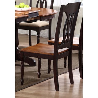 Iconic Furniture Whiskey/ Mocha Traditional Dining Side Chair (Set of 2)