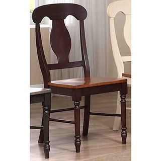 Iconic Furniture Whiskey/ Mocha Napoleon Dining Side Chair (Set of 2)