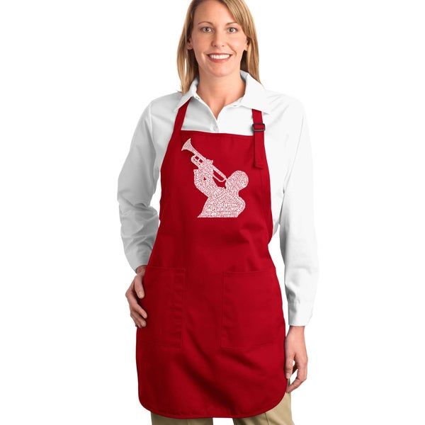 Jazz Greatest Hits Kitchen Apron