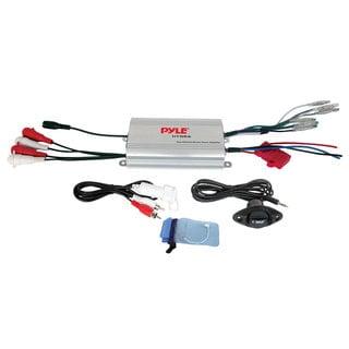 Pyle PLMRMP3A 4-channel 400W MP3 Waterproof Marine Powered Amplifier (Refurbished)