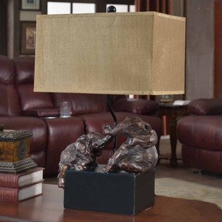 Creek Classics Playing Elephant 27-inch Table Lamp