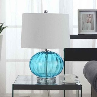 Creek Classics Blue Glass with Acrylic 23-inch Table Lamp