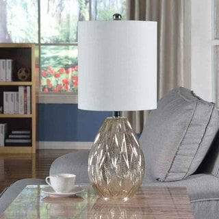 Creek Classics Diamond Glass 23.5-inch Table Lamp