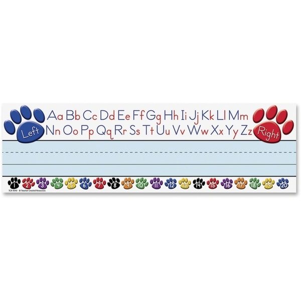 Teacher Created Resources Paw Alphabet Name Plates