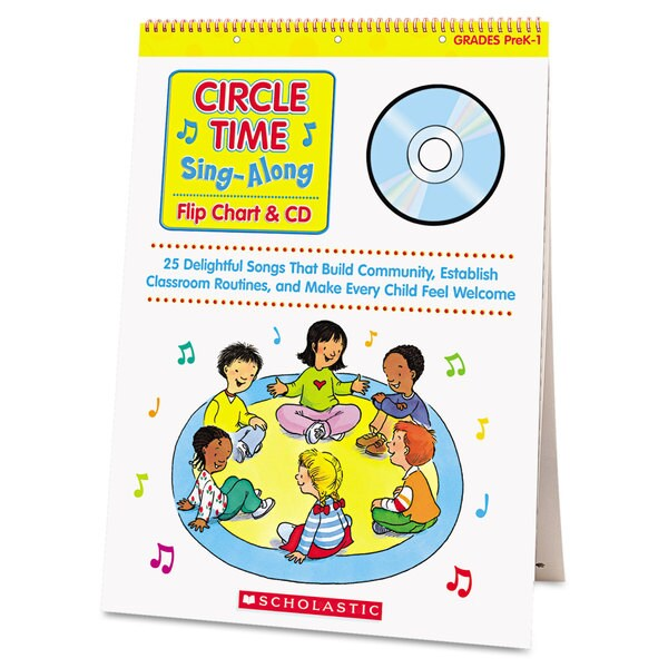 Scholastic Circle Time Sing-Along Flip Chart and CD Education Printed/ Electronic Book by Paul Strausman