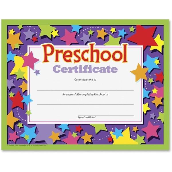 Trend Preschool Certificate