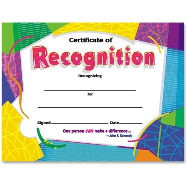 Trend Certificate of Recognition (Pack of 30)