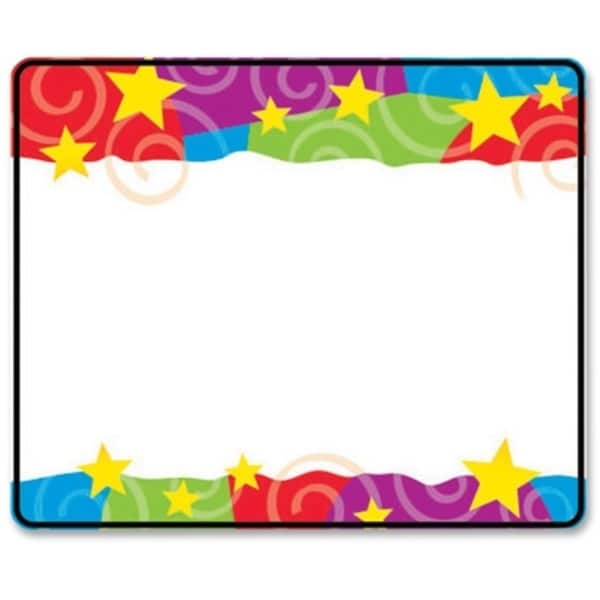 Trend Stars and Swirls Name Tag