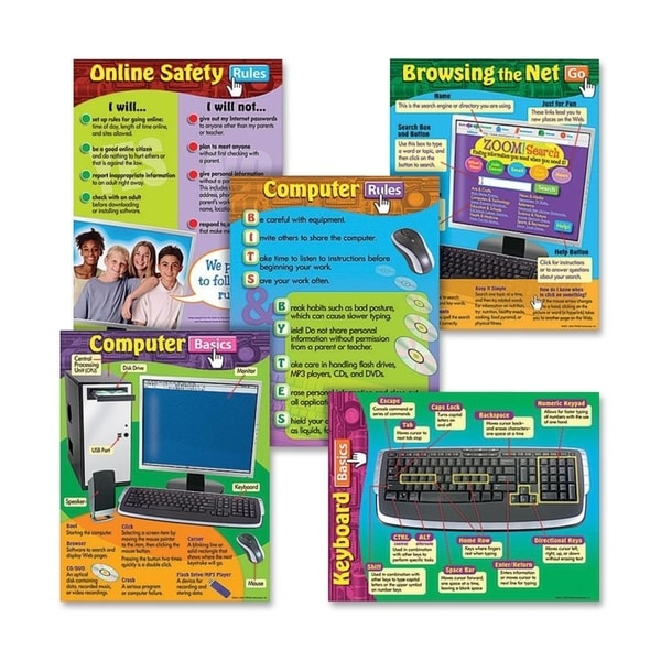 Trend Computer Skills Learning Chart (Pack of 6)