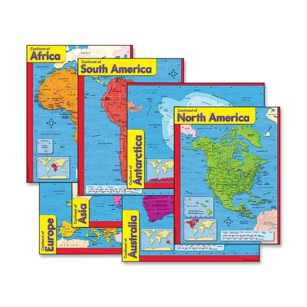 Trend Continents Learning Chart (Pack of 6)