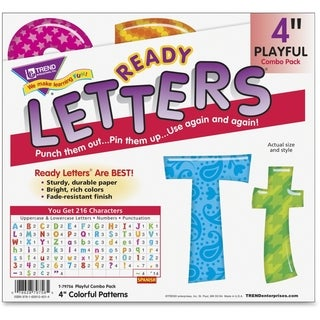 Trend Colorful Patterns 4-inch Ready Letters (Pack of 3)