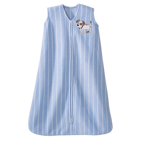 HALO SleepSack Microfleece Wearable Blue Dog Stripes Blanket
