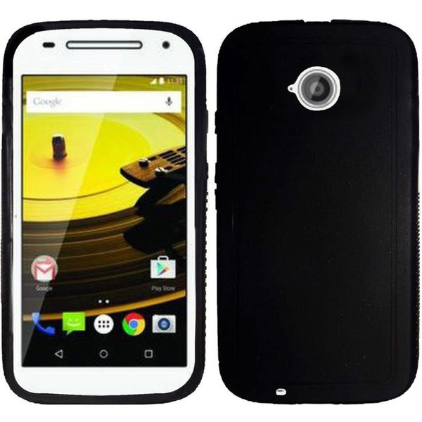 Insten Red Rugged TPU Rubber Candy Skin Phone Case Cover For Motorola Moto E(2nd Gen)