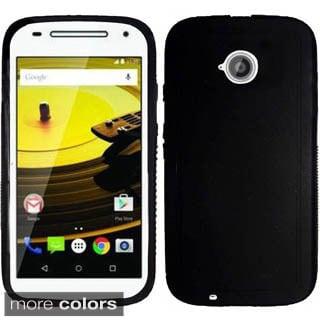 Insten Red Rugged TPU Rubber Candy Skin Phone Case Cover For Motorola Moto E(2nd Gen)