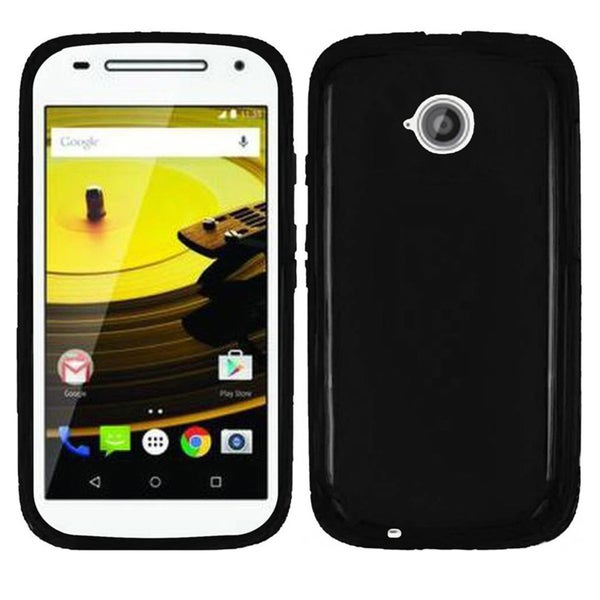 Insten Smoke Frosted TPU Rubber Candy Skin Phone Case Cover For Motorola Moto E(2nd Gen)