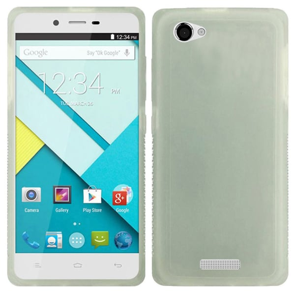 Insten White TPU Rubber Candy Skin Phone Case Cover For BLU Studio Energy