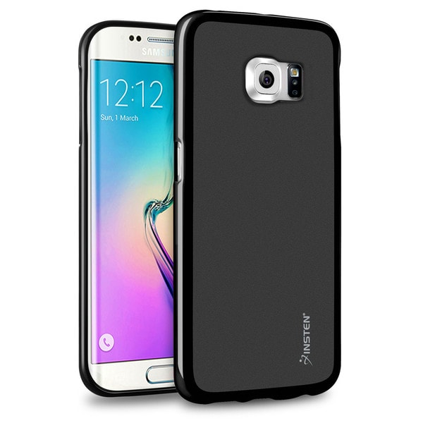 Insten Black Pudding TPU Rubber Candy Skin Phone Case Cover For Samsung Galaxy S6 Edge
