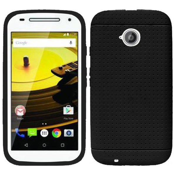 Insten Teal Rugged Silicone Skin Gel Rubber Phone Case Cover For Motorola Moto E(2nd Gen)