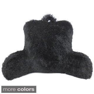 Warmly Shaggy Fur Bedrest Lounger