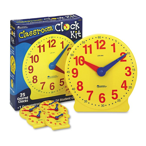 Learning Resources LER2102 Classroom Clock Kit - 25/ EA