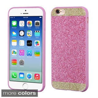 Insten Silver/White Hard Snap-on Glitter Phone Case Cover For Apple iPhone 6
