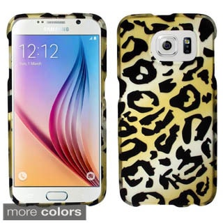 Insten Black/Brown Cheetah Hard Snap-on Rubberized Matte Phone Case Cover For Samsung Galaxy S6