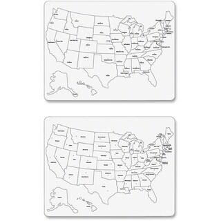 ChenilleKraft 2-Sided Large USA Map Whiteboard