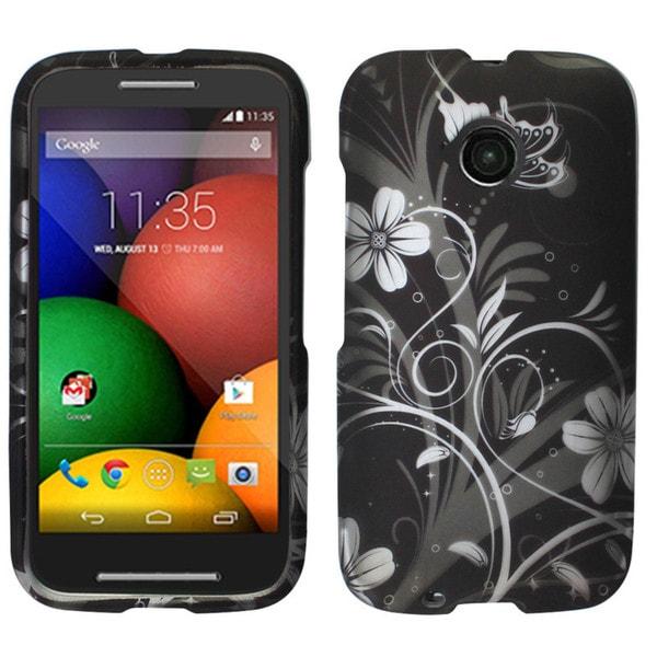Insten Black/White Panda Bear Hard Snap-on Rubberized Matte Phone Case Cover For Motorola Moto E(2nd Gen)