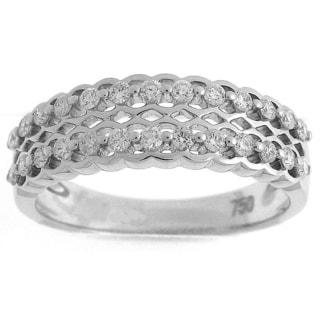 18k White Gold 2/5ct TDW Diamond Scallop Fashion Ring (G-H, SI1-SI2)