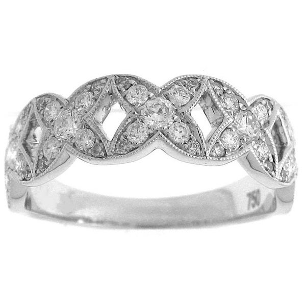 18k White Gold 5/8ct TDW Diamond Pave Ring (G-H, SI1-SI2)