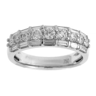 18k White Gold 1 1/6ct TDW Diamond Stackable Ring (G-H, SI1-SI2)