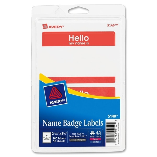 Avery Name Badge Label (Pack of 100)