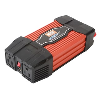 Power Station NOS NIN40003 Slimline 400 Watt Power Inverter with One AC Outlet and One USB Port