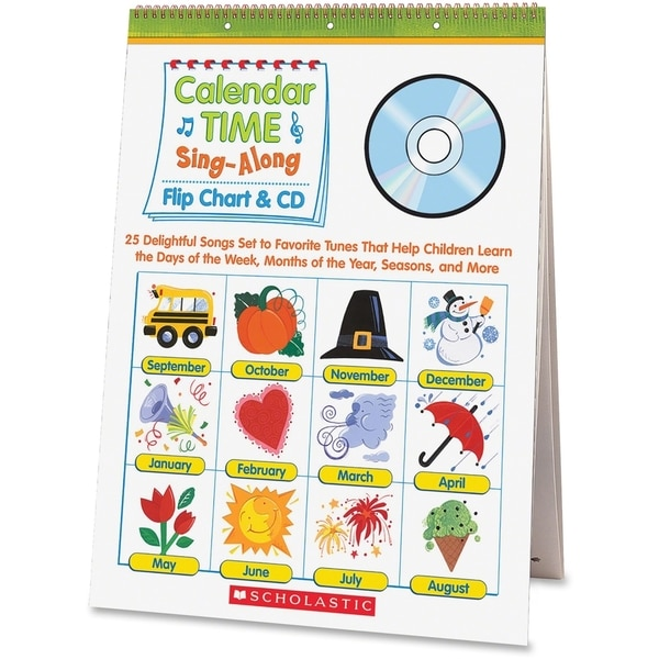 Scholastic Pre K-1 Calendar Sing-A-Long Set Education Printed Book