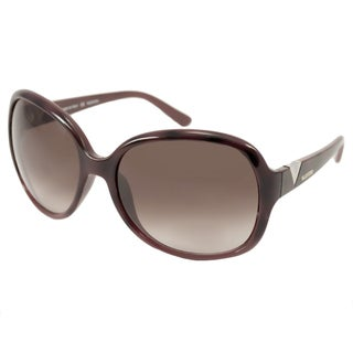 Valentino Women's V612S Red Havana Rectangular Sunglasses