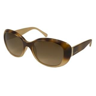 Valentino Women's V620SR Havana Gold Rectangular Sunglasses