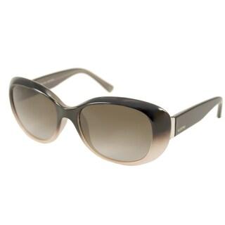 Valentino Women's V620SR Black Powder Rectangular Sunglasses