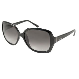 Valentino Women's V637S Black Gradient Rectangular Sunglasses