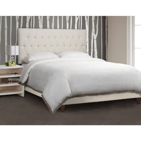 King Button Tufted Fabric Headboard By Christopher Knight Home