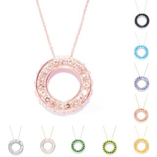 Exotic Gemstone Circle of Life Necklace
