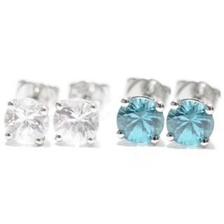 Sterling Silver 5mm Zircon Stud Earrings
