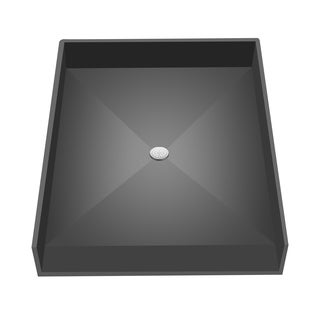 Redi Free 46 inch D x 38 inch W Fully Integrated Barrier Free Shower Pan with Center PVC Drain