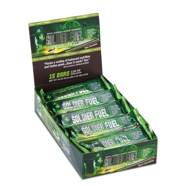 Soldier Fuel Real Chocolate Energy Bars (Case of 15)