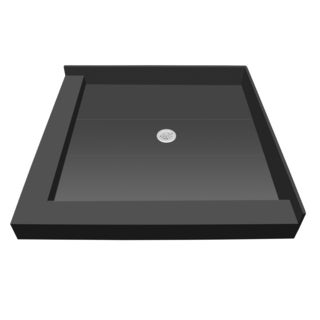 Redi Base 42 inch D x 36 inch W Fully Integrated Shower Pan with Center PVC Drain with Left Dual Curb