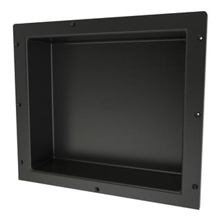 Redi Niche Individually Boxed 16 inch L x 14 inch W Standard Single Niche. Material ABS Black