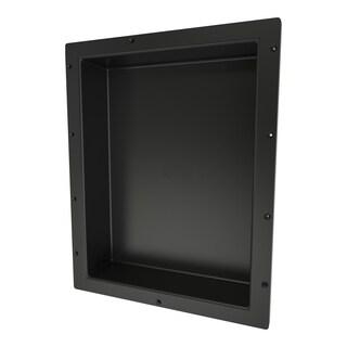 Redi Niche Individually Boxed 16 inch L x 20 inch W Standard Single Niche. Material ABS Black