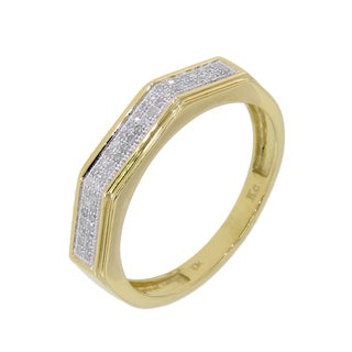 10k Yellow Gold Men's 1/5ct TDW Diamond Wedding Band (G-H, I2-I3)