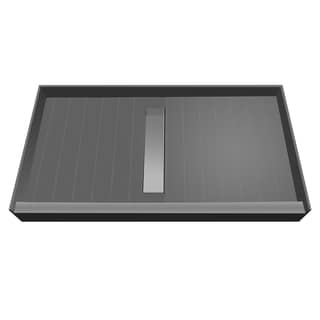 Redi Trench 42 x 60 Shower Pan Center Tileable Trench Drain